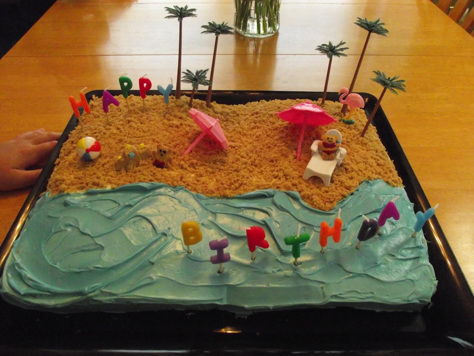 Unique Treats Beach Birthday Cake